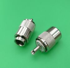 (10 PCS) UHF PL-259 Male Twist-On for RG8 RG213 RG214 LMR400 Cable - USA Seller