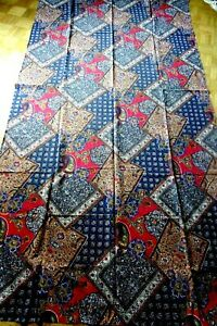 Große Tischdecke 145 x 270 cm mehrfarbiges Paisleymuster 100% Cotton sehr schön!