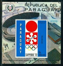 Paraguay Olympische Spiele Olympic Games 1972 MUESTRA Sapporo 1972 block