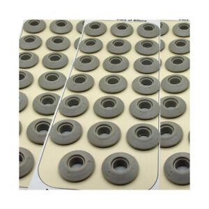 60 Grey Plastic Snap Eyelets 12mm, Washer Sealed for Tarpaulin & Groundsheets