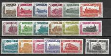Belgium stamps 1949 OBP SP304-SP320+SP321A MNH VF TRAIN stamps