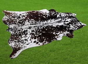 "New Cowhide Rugs Area Cow Skin Leather 14.69 sq.feet (46""x46"") Cow hide U-5786"