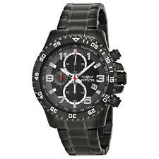 Invicta Specialty Chronograph Grey Dial Gunmetal Ion-plated Mens Watch 14879