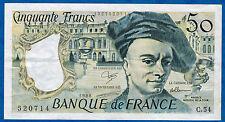 FRANCE - 50 FRANCS QUENTIN DE LA TOUR Fayette n°67.14 de 1988 en TTB C.54 520714