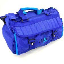 Vintage 80s 90s Nike Jordan Duffel Bag Gym Weekend Travel Carry On Teal Purple