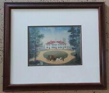 Vintage Michael Delacroix Mount Vernon George Washington Print Framed
