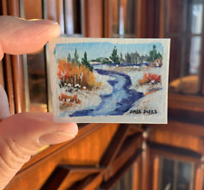 BLUE RIVER by Dale Dirks Wounded Warrior Project Dollhouse Miniature 1/12 Scale