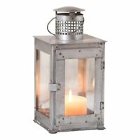 SPRINGHOUSE Square Candle Lantern in Tin