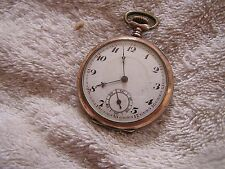 Antique Cylindre .800 Silver Pocket Watch 10 Rubis