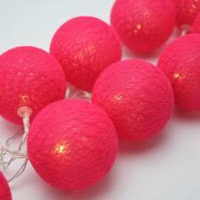Red 5cm Ball String Xmas LED Light Room Wedding Party Outdoor Event BATT PWR