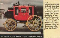 Postcard Old Hangtown Wells Fargo Overland Stage