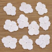 Lots 10 PCS 25X33mm Baroque White Shell Flower Mother of Pearl Loose Beads
