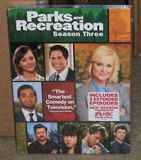 Parks and Recreation Season Three DVD 3-Disc Set New