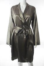 Malizia By La Perla Taupe Silk Satin Robes Size Large New $240