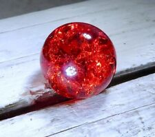 "Vintage Vitro Ultra Rare Red Crackle Marble .56"" Jewelry Fenton Glass #9"