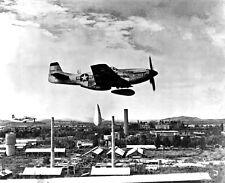 New 8x10 Korean War Photo: P-51 Mustang Releases Napalm Bombs over Korea