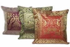 """16"""" Indian Brocade Silk Cushion Cover Throw Pillow Ethnic Bohemian Boho Decor"""
