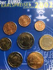 565e16be5c MONETE Austria Set 2002 karlspreises NUOVO bunc 8x 1 cent a 2 € euro blister  prima