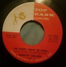 Dorothy Collins 45 Banjo Boy / The Happy Heart of Paris Top Rank RA 2052 exc