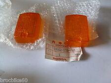 LOT DE 2 CABOCHONS DE CLIGNOTANT ORIGINE HONDA C90 1986-1996 33602-GC8-614 NEUF