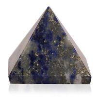 Lapis Lazuli Stone Healing Crystal Pyramid Metaphysical Stone Figurine 25 MM