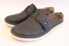 MERRELL Select Grip Around Town Leather Slip On Mule Shoes Black Womens Size 5.5