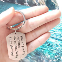 Stainless Steel Lover Husband Boyfriend Gift Keychain Keyring Girlfriend Silver