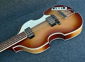NEW Hofner HCT-500/1 SB CONTEMPORARY BEATLE BASS GREAT VINTAGE LOOK Light Brown