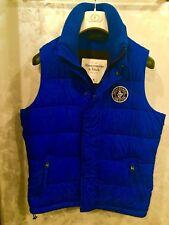 Abercrombie & Fitch Vest Down Jacket Outerwear Royal Blue XL