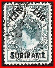 SURINAME 1900 QUEEN WILHELMINA SC#37 used CV$14.00