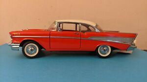 Vintage 1/24 Franklin Mint Precision Model Car 1957 Chevrolet BelAir Red NO RES!
