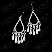 Silver Teardrop Drop Earrings Ottoman Turkish Ethnic Tribal Gypsy Boho Tear Drop