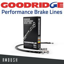 Goodridge Stainless Steel Brake Hoses Front + Rear Fits BMW Z4M Coupe E85 E86