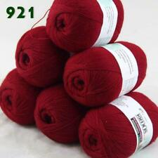 Sale 6balls50g LACE Acrylic Wool Cashmere hand knitting Wrap Yarn 921 Red