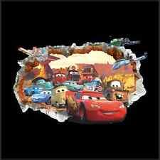 XXL Aufkleber 3D Wandsticker Cars Loch Kinderzimmer Auto McQueen Wandtatoo