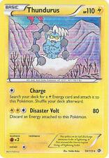 3 x Pokemon Card - Legendary Treasures 50/113 - THUNDURUS (holo-foil) - NM/Mint