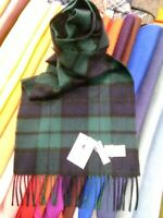 100% Cashmere Scarf | House of Cashmere | Black Watch | Tartan | Soft and Classy