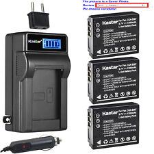 Kastar Battery LCD AC Charger for CGA-S007 S007 Panasonic LUMIX DMC-TZ3K Camera