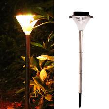 Large 24 LED Solar Garden Pathway Warm Light Lamp Super Bright Landscape Lamp