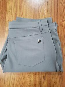 Footjoy Athletic Fit Gray Golf Pants Men Size W38 L34