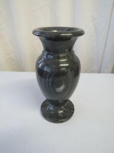 Heavy black white grey marble vase urn - good for gravestones