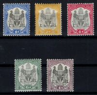 P133391/ BRITISH CENTRAL AFRICA – SG # 43 / 47 MINT MH – CV 105 $