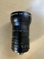 Soligor Television Lens 75mm 1:1,3 C-Mount, Mit 2x Vergrösserungsaufsatz Night