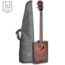 J.N Guitars CASK-FIRKIN Acoustic Cigar Box Spruce Top 4 Strings Guitar + Gig Bag