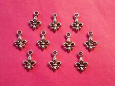 Tibetan Silver Fleur de Lys charm/Lily charms 10 per pack- scouting projects