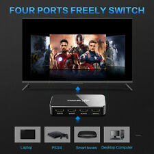 UHD HDMI Switch 2.0 4K HDR 4x1 Adapter Switcher with Audio Extractor 3.5 j 2Y