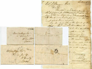 PORTUGAL 1826-28 TWO LETTERS to R.J BUNYAN ...LISBON + LONDON FOREIGN DOTTED FPO