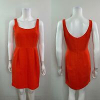 Ann Taylor Women's Size 0 Sleeveless Scoop Neck Red Dress