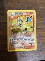 1999 Pokemon Base Set CHARIZARD Holo 4/102 Rare