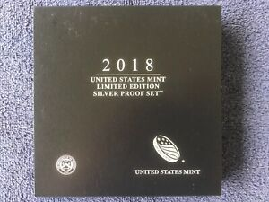 2018 US Mint Limited Edition SILVER Proof Set